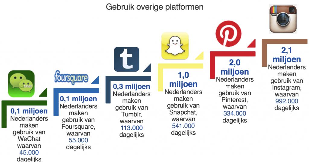 gebruik overige social media platformen