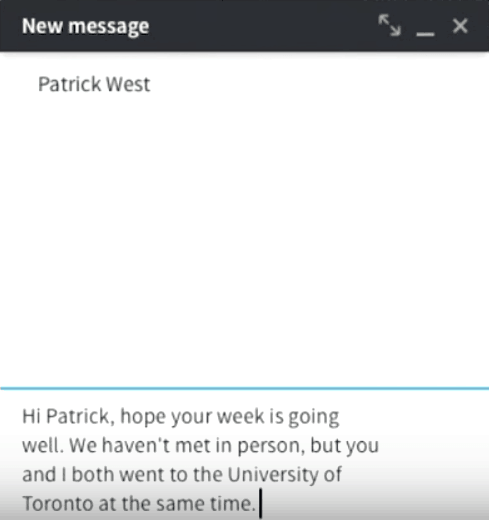 LinkedIn messaging 2